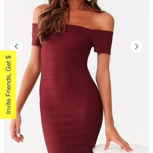 NWT Forever 21 Off the Shoulder Dress, Small